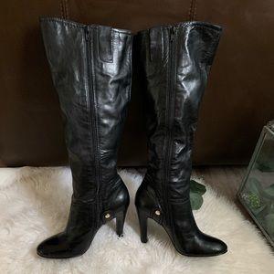 Nine West Black Round Toe Heel Boots